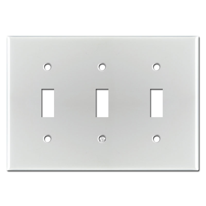 Triple Toggle Light Switch Cover Brushed Aluminum