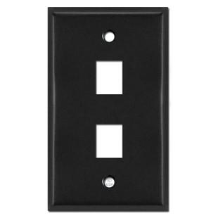 2 Telephone Jack Switch Plate - Black
