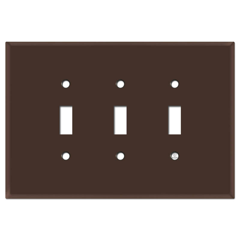 Oversized 3 Gang Toggle Switch Plates Brown Kyle