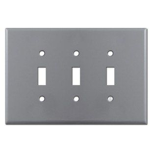 Oversized 3 Gang Toggle Cover Plates - Gray