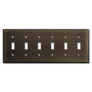 6 Toggle Light Switchplates - Oil Rubbed Bronze