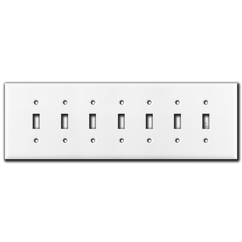 jumbo 7 gang toggle light switch plates