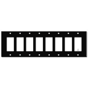 8 GFCI Wall Plates - Black
