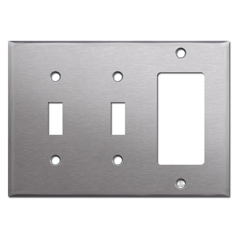 decora wall plates hdmi 3gang 2toggle 1decora switch plate satin stainless steel