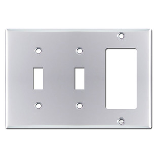 1 Decora 2 Toggle Switch Plate - Polished Chrome
