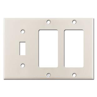 1 Toggle 2 Decora Switch Plates - Light Almond