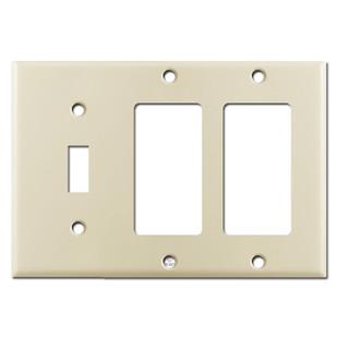 3-Gang 1-Toggle 2-Decora Switch Plate - Ivory