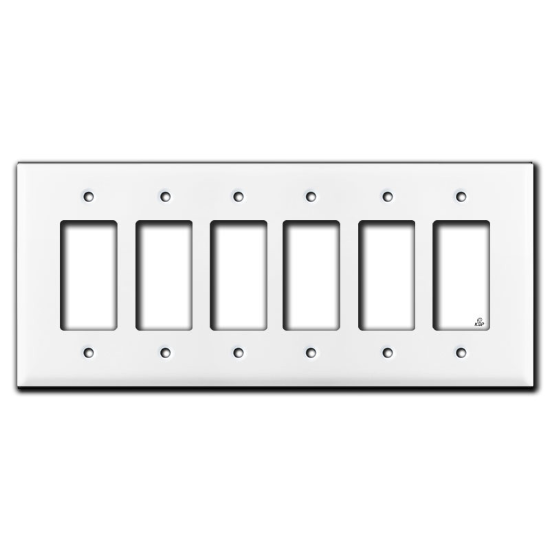 jumbo 6 gang rocker switch plate