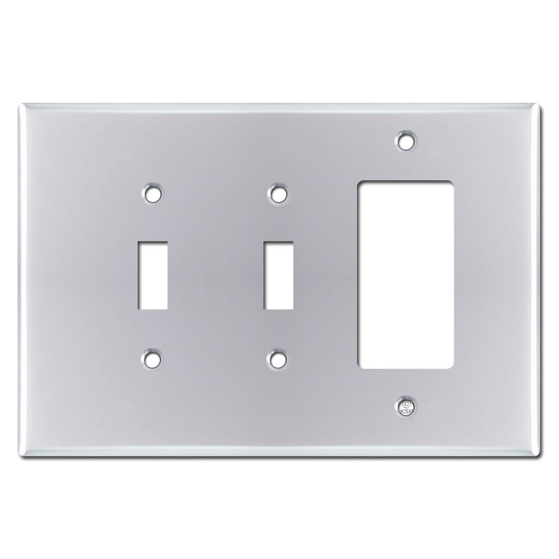 Oversized 1 decora 2 toggle light switch plate polished for Decora light switches