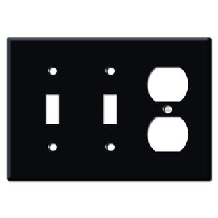 2 Toggle Duplex Plate - Black
