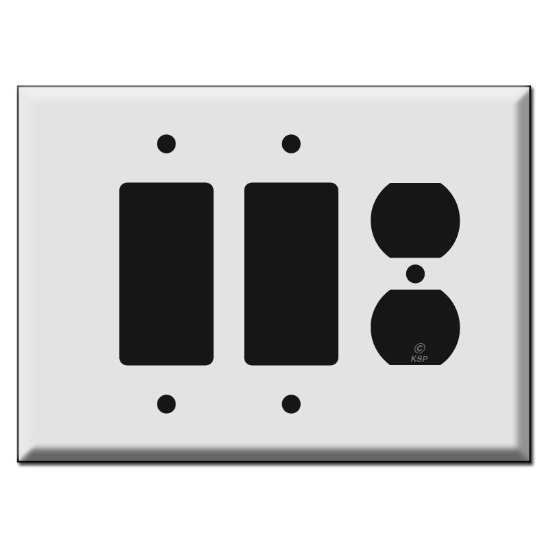 Bulk Light Switch Covers Entrancing 2 Decora And 1 Duplex Outlet Cover Switch Plates Design Ideas