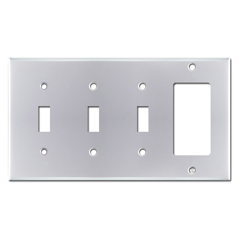 4 Switch Plate Unique Gang 3 Toggle 1 Rocker Switch Plate  Polished Chrome Decorating Inspiration