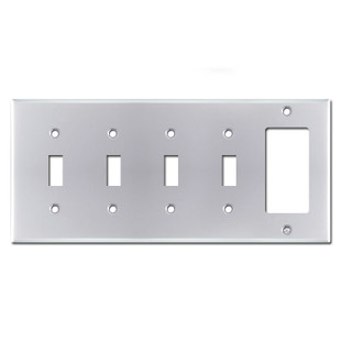1 Decora 4 Toggle Cover Plates - Polished Chrome