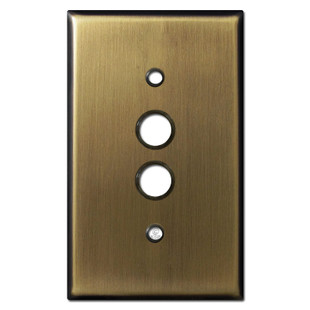 1 Push Button Light Switchplates - Antique Brass