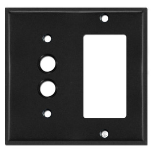 Single Push Button Single Decora Switch Covers - Black