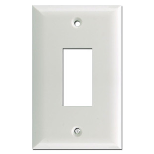 Touch Plate 1 Button Genesis Low Voltage Wall Plates - White