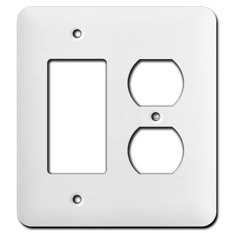 Long Single Gfci Single Duplex Receptacle Wall Plates White