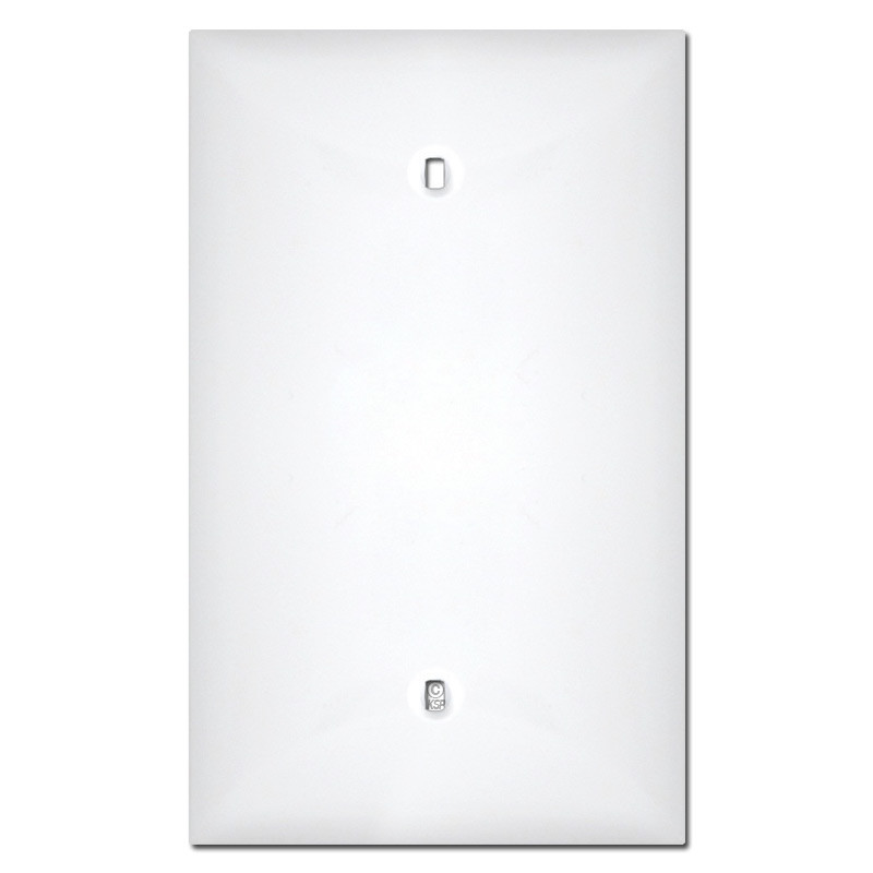 Midway 1 Gang Blank Plastic Wall Plate Covers White