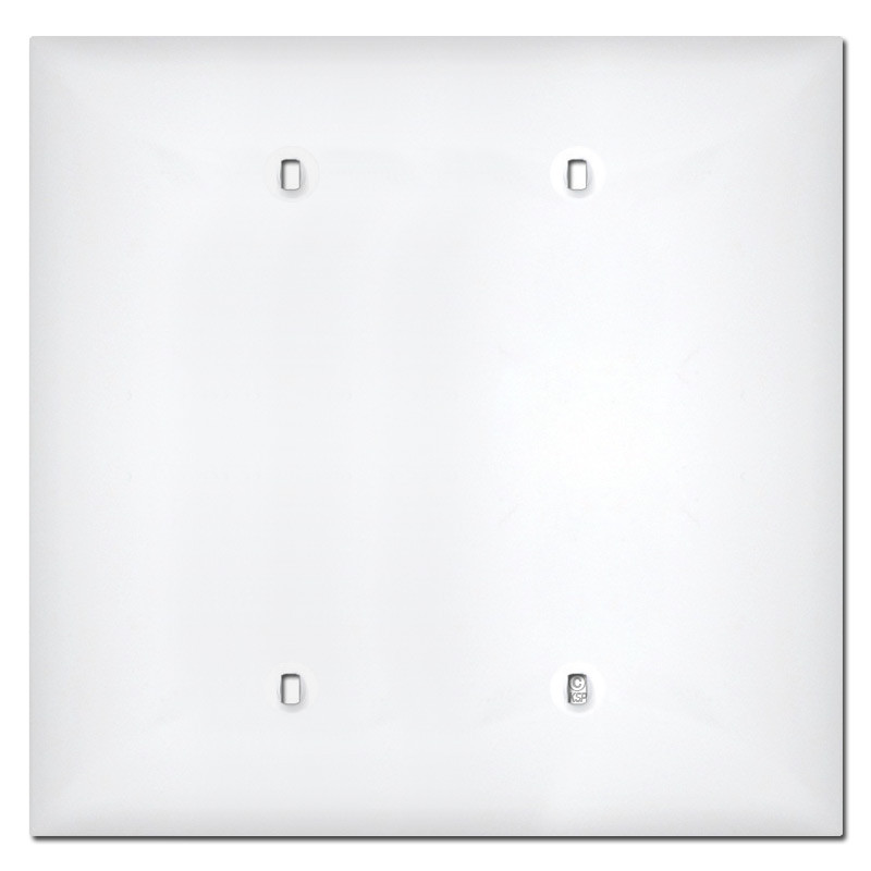 Midway 2 Gang Blank Plastic Cover Plates - White  sc 1 st  Kyle Switch Plates & 2 Gang Blank Plastic Cover Plates - White