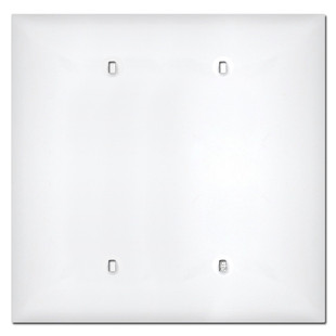 Midway 2 Gang Blank Plastic Cover Plates White