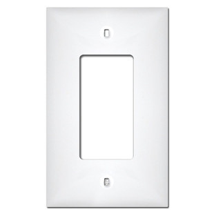 Midway 1 Gang GFCI Rocker Plastic Wall Plate Covers - White