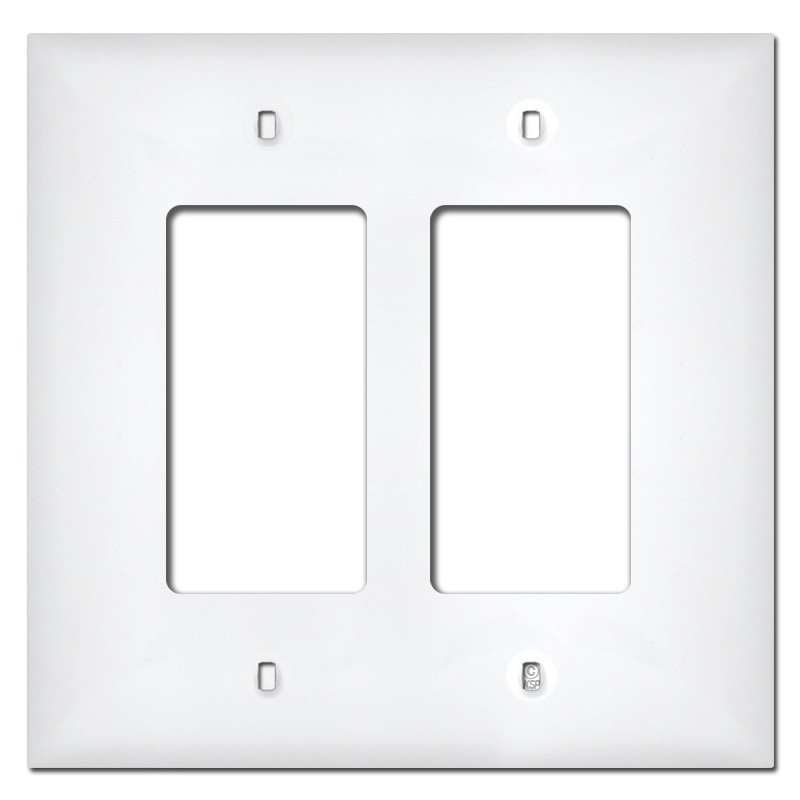 sc 1 st  Kyle Switch Plates & Midway 2 Gang GFI Rocker Plastic Switch Plate Covers - White