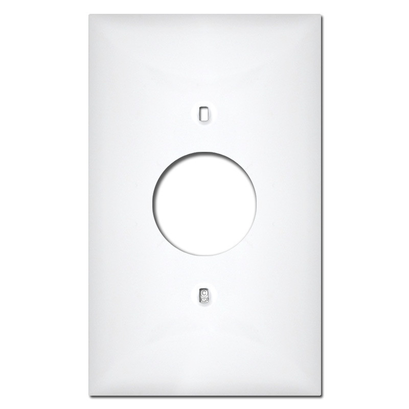 Midway Single Round Receptacle Plastic Wall Plate Covers - White  sc 1 st  Kyle Switch Plates & Single Round Receptacle Plastic Wall Plate Covers - White