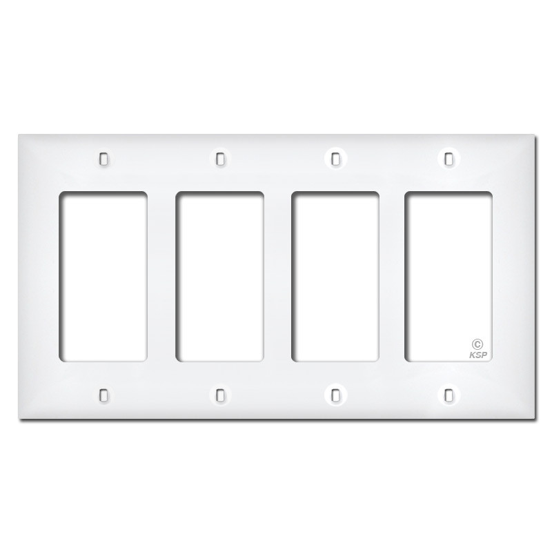 White Plastic 4 Decora Switch Plate Covers Kyle Switch