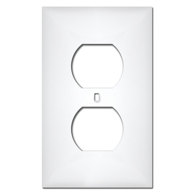 White Plastic 1 Duplex Outlet Plate Covers  sc 1 st  Kyle Switch Plates & White Plastic 1 Duplex Outlet Plate Covers | Kyle Switch Plates