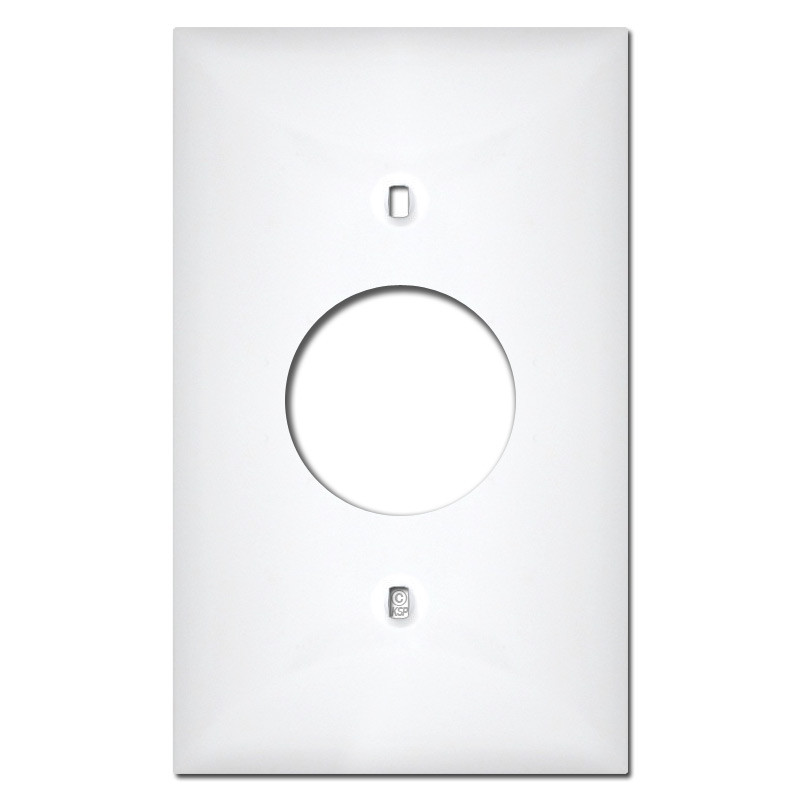 White Plastic 1 Round Outlet Cover Plates Kyle Switch Plates