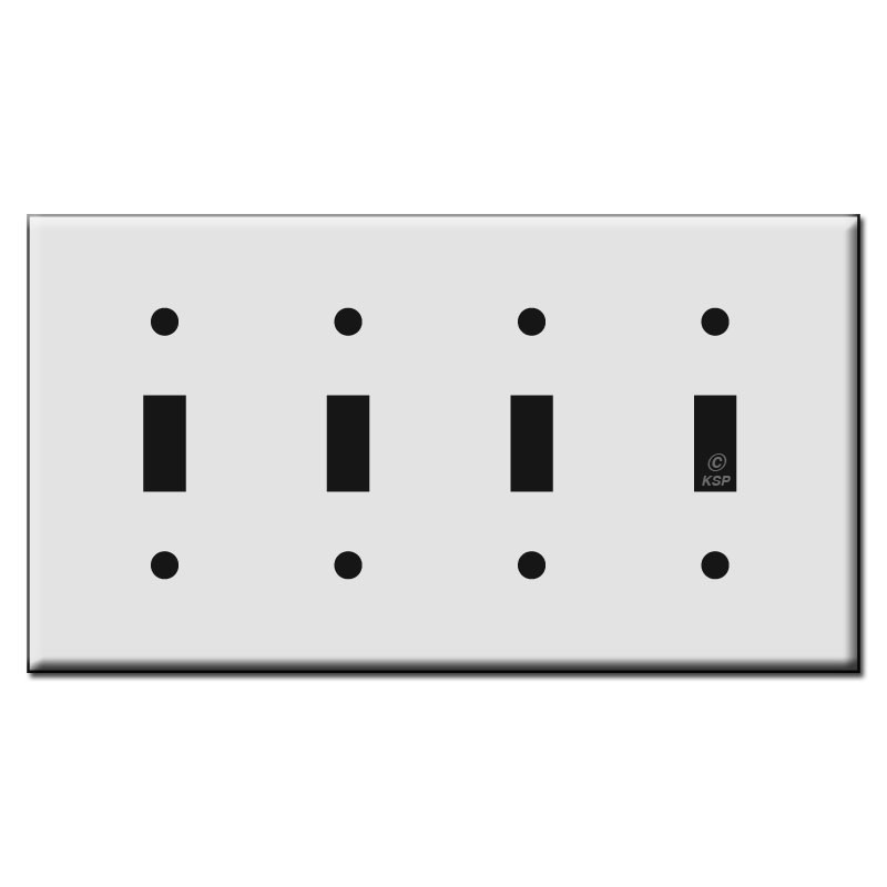 Four Toggle Plastic Light Switch Wall Plates  sc 1 st  Kyle Switch Plates & Four Toggle Plastic Light Switch Wall Plates | Kyle Switch Plates