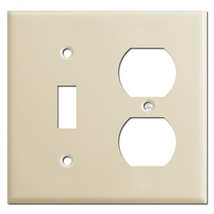 Toggle Outlet Cover Plate - Ivory