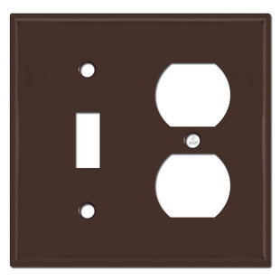 Toggle Outlet Cover Plate - Brown