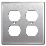 4 Duplex Outlet Plug Covers - Spec Grade Stainless Steel