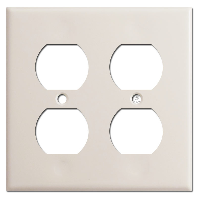 Gang Duplex Outlet Receptacle Cover - Light Almond