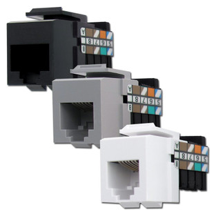 Leviton RJ45 Cat3 Phone Jacks for QuickPort Frame
