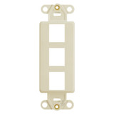 Leviton Ivory 3 Port Frame for Modular Jack Adapters