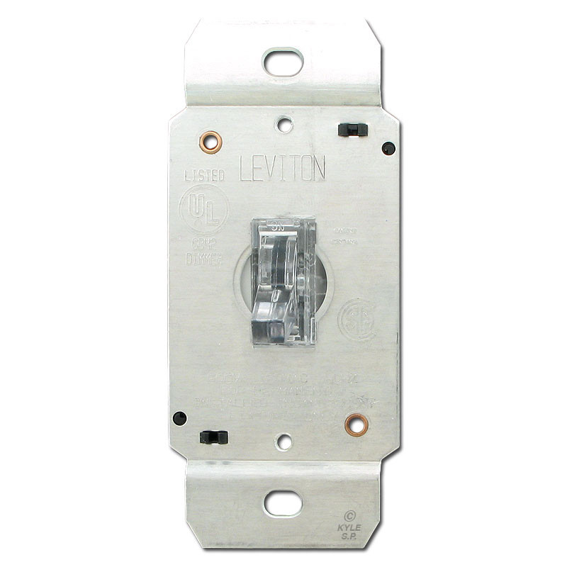 Gray Way Toggle Switches Leviton CSGRY Kyle Switch Plates - 4 way dimmer switch leviton