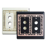 Decorative Double Push Button Light Switch Plate