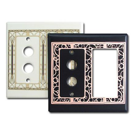 Decorative Push Button Rocker Light Switch Covers
