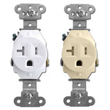 Pass & Seymour Tamper Resistant Round 20A Single Outlets