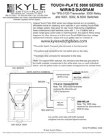 touch plate 5000 series low voltage switch wiring guide. Black Bedroom Furniture Sets. Home Design Ideas