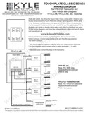 Touch-Plate Classic Unlighted Low Voltage Switch Wiring Guide with Drawings