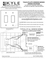 touch plate genesis low voltage wiring diagram \u0026 instructions Light and Outlet Wiring Diagrams