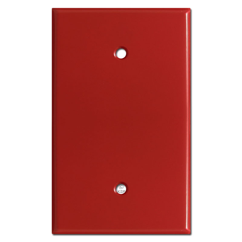 Oversized 1 Blank Light Switch Plate Cover Red