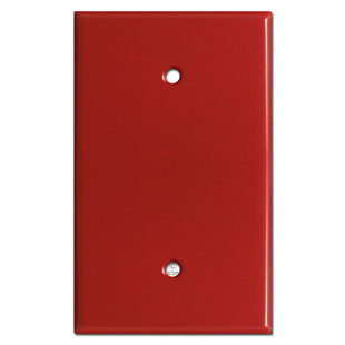 Oversized 1 Blank Light Switch Plate Cover - Red