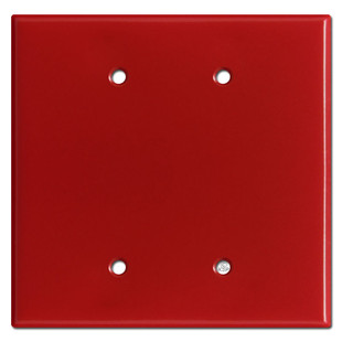 Oversized 2 Blank Switch Plates - Red