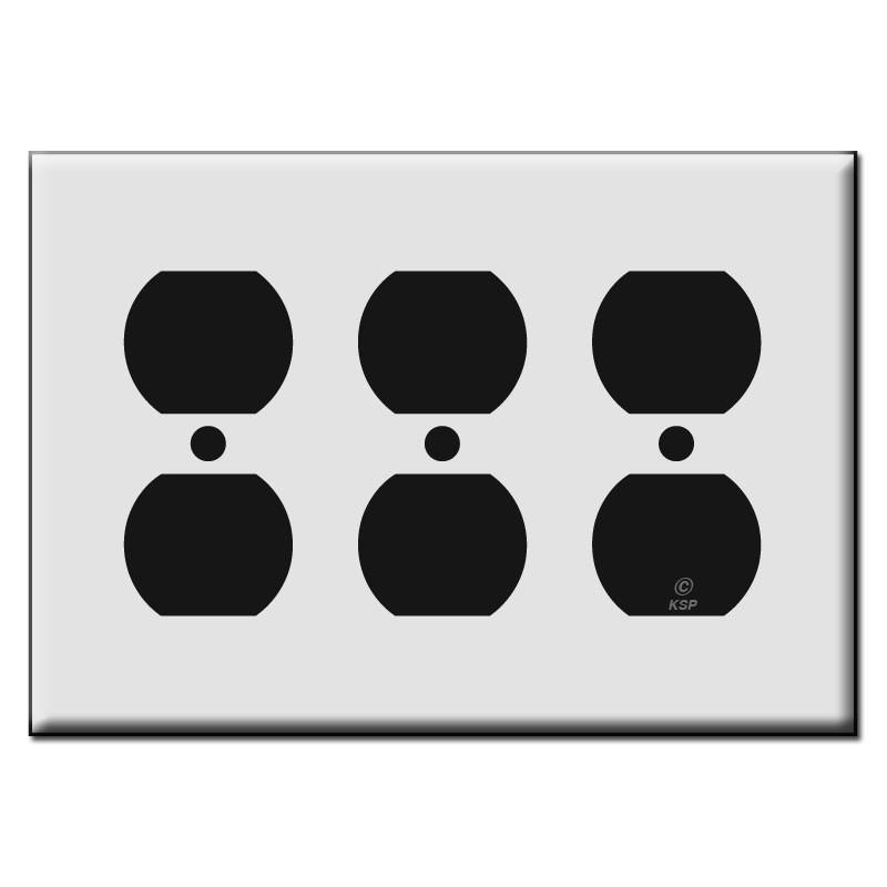Triple Duplex Receptacle Plastic Outlet Cover Plates