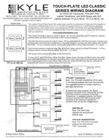 Touch-Plate LED Classic Low Voltage Wiring Guides with Drawings