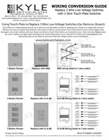 3 Wire to Touch-Plate Low Voltage Wiring Guides with Drawings